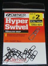 10 Pack - OWNER Hyper Swivel Snagless Snap 5193-021 Size 2 - 31 lb Test