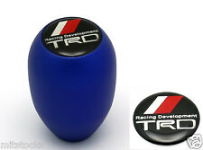 NEW SANDBLASTING BLUE MT MANUAL TRANSMISSION GEAR SHIFT KNOB TRD EMBLEM TOYOTA
