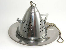 Stainless steel teapot shape tea infuser with tray