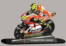 MODEL CARS, MOTO, Valentino Rossi, Ducati -02 Avec Horloge