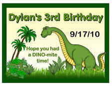 15 DINOSAUR BIRTHDAY PARTY MAGNETS FAVORS