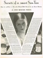 1920s BIG Vintage Ponds Beauty Cream Jane Kendall Mason Photo Print Ad