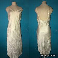 Natori for Neiman Marcus Luxurious Long Satin Nightgown sz L