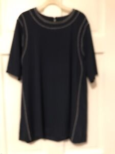 Ladies BNWT Next Navy Blue Embellished Top Size 16