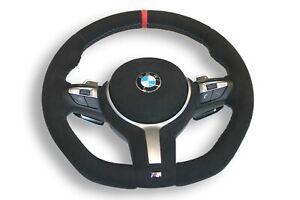 LENKRAD BMW F01 F02 F10 F11 F07 F12 F13 M-TECH + ABGEFLACHT  NEU BEZIEHEN