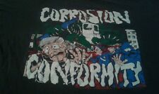 Corrosion Of Conformity Vtg 80's Punk Hardcore Shirt Black Sz Xl Comfy Rare VHTF