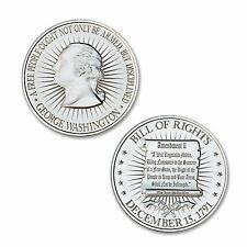 1 oz Hi Relief 2nd Amendment Bill of Rights - George Washington Bust .999 Silver