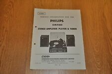 Philips 13RF833 Stereo Amplifier, Record Player & Tuner Workshop Service Manual