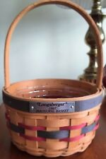 Longaberger 1997 Inaugural basket with pewter charm tie-on
