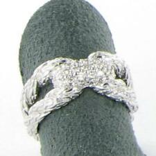 John Hardy Classic Chain Diamond Pave Ring 0.25cts Sterling Silver Sz 7 New $795