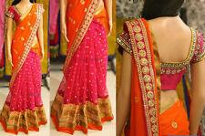 Bollywood Designer Party WearMulticolor Georgette Fabric Heavy Bridal Saree