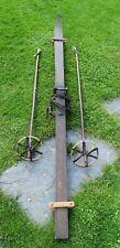 *Antike Holzski - SKI - mit Stöcken - Super Winter Deko - um 1900 (111-20)*
