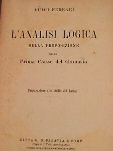 LUIGI FERRARI - L'ANALISI LOGICA DELLA PROPOSIZIONE