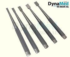 A set of 5 pcs Bone Osteotomes 6mm 8mm 10mm 12mm 15mm orthopedics instruments