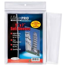1 Pack of 100 Ultra Pro 5 x 7 Photo Storage Soft Poly Sleeves Holder