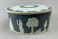 """Vintage  SMITH CRAFTED CHICAGO Empty Metal Tin container Raised Design 8""""x3,25"""""""