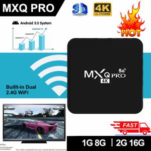 MXQ Pro Smart TV Box 4K 5G Ultra HD 64Bit Wifi Android 10 Quad Core Media Player