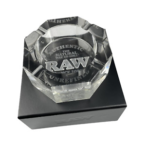 RAW Crystal Glass Ashtray RAW Rolling Papers Limited Edition With Certificate