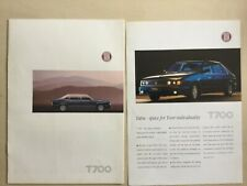 TATRA T700  brochure and Specification sheet in Good condition c1996/97