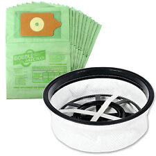 """10 x Vacuum Bags & Cloth 12"""" Filter for Numatic Henry Hetty George James Hoover"""