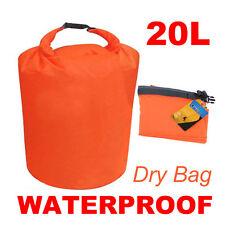 20L Orange Waterproof Dry Bag for Canoe Floating Boating Kayaking Hiking Camping