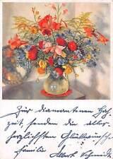 Flowers in Vase Painting Fleurs Blumen K. Schafer