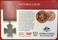 2017 Legends Of The Anzacs 25 Cent Australian Coin Carded Unc. Victoria Cross