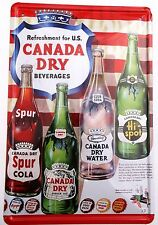 CANADA DRY METAL TIN SIGNS vintage cafe pub bar decor smilie