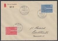 32734) Schweiz 1957 Europa CEPT Mi.-Nr. 646-647 FDC (70,00 €)