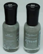 2 Sally Hansen Hard As Nails Xtreme Wear Nail Polish HEAVY METAL #624 Sealed