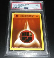 PSA 9 MINT Fighting Energy 97/102 1ST EDITION Base Set Pokemon Card