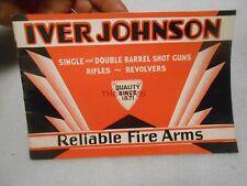 Vintage 1930s Iver Johnson Firearms Gun Rifle Catalog