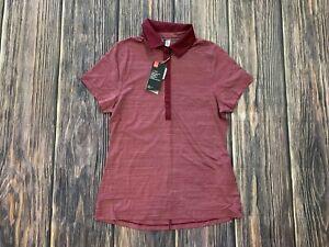 Under Armour Women's Heat Gear Playoff Striped Golf Polo Shirt Sz Medium NEW NWT