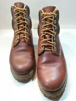 """Timberland  Brown 7 Eye Lace Up  Boots Vibram Sole Men's Size 7.5 W 6"""" Shaft"""