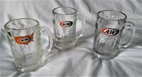 "Vintage 3 Three A & W Root Beer 6"" Tall  Heavy Glass Mugs Fast Food"