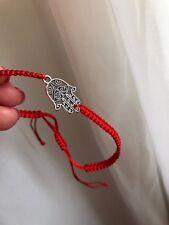 Hand Of Fatima  Kabbalah Red cord Lucky Bracelet Protection Evil Eye