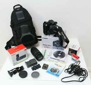 Cannon EOS 350D Digital SLR Camera 18-55mm & Zoom Lens & Lots Of Accessories