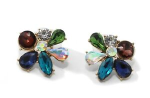 J.Crew - Women's - NWT - Multi Sparkle Crystal Cluster Bloom Earrings