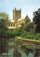 B87884 rom the moat  wells cathedral    uk