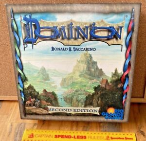 DOMINION CARD GAME OOP AS NEW 100% COMPLETE 2ND EDITION FREE SAFE POST IN AU!!!