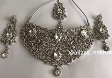 Bollywood Style Silver necklace set