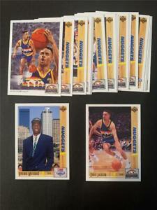 1991/92 Upper Deck Denver Nuggets Team Set 20 Cards