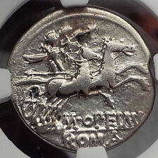 Roman Republic 131BC Rome Apollo Chariot Genuine Ancient Silver Coin NGC i59855