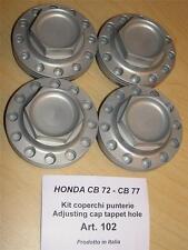 Honda CB72 CB77 Cappellini #102 set/4 billet alloy rocker valve cover caps