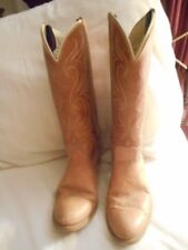 WOMENS MADE IN USA DINGO BROWN LEATHER WESTERN COWBOY BOOTS 9 1/2 M