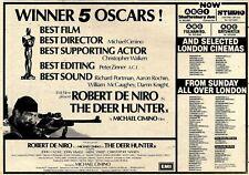 28/4/79Pn37 Advert: On Screen Now Robert De Niro In the Deer Hunter 7x11