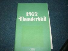 1977 Ford Thunderbird Tbird Factory Original Owners Manual Nice Complete Origina