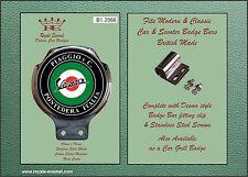 Royale Car Scooter Bar Badge + fittings PIAGGIO VESPA PONTEDERA ITALIA - B1.2966