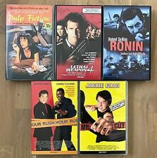 VHS Bundle 5xAction *Pulp Fiction*Ronin*Rush Hour*Lethal Weapon 4*Mr Nice Guy*