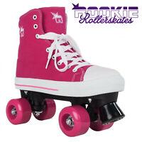 Rookie Retro All Star Girls Pink Canvas Derby Roller Skates ✅ 24Hr DELIVERY ✅